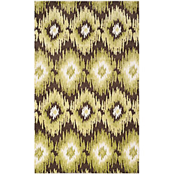 Safavieh Retro Loew Dark Brown / Green 8 ft. x 10 ft. Indoor Area Rug