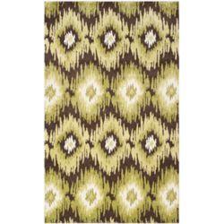 Safavieh Tapis d'intérieur, 8 pi x 10 pi, Retro Loew, brun foncé / vert