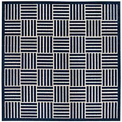 Safavieh Cottage Antoine Blue / Grey 6 ft. 7-inch x 6 ft. 7-inch Indoor/Outdoor Square Area Rug