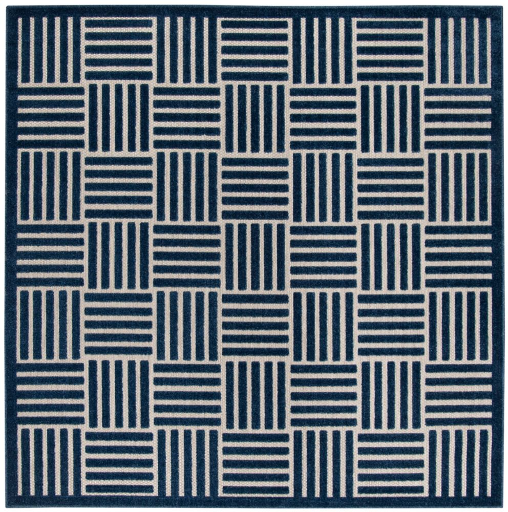 Safavieh Cottage Antoine Blue / Grey 6 ft. 7-inch x 6 ft. 7-inch Indoor/Outdoor Square Area Rug