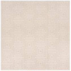 Safavieh Tapis d'intérieur/extérieur carré, 6 pi 7 po x 6 pi 7 po, Cottage Layton, crème / beige