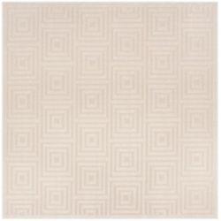 Safavieh Cottage Layton Cream / Beige 6 ft. 7-inch x 6 ft. 7-inch Indoor/Outdoor Square Area Rug