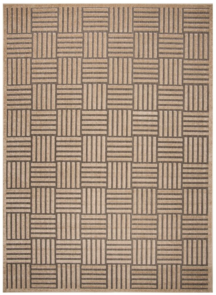 Safavieh Cottage Antoine Grey / Beige 5 ft. 3-inch x 7 ft. 7-inch Indoor/Outdoor Area Rug