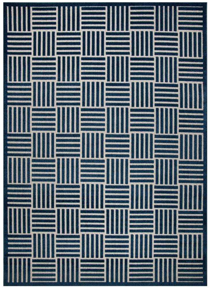 Safavieh Cottage Antoine Blue / Grey 6 ft. 7-inch x 9 ft. 6-inch Indoor/Outdoor Area Rug