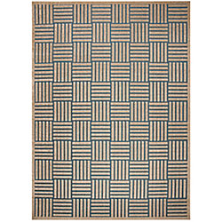 Safavieh Cottage Antoine Light Blue / Beige 6 ft. 7-inch x 9 ft. 6-inch Indoor/Outdoor Area Rug