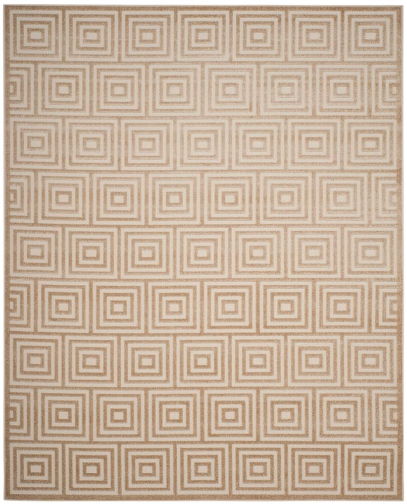 Safavieh Cottage Layton Cream 6 ft. 7-inch x 9 ft. 6-inch Indoor/Outdoor Area Rug