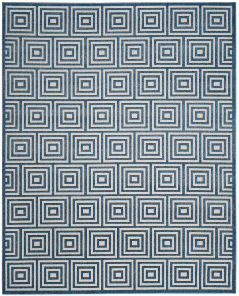 Safavieh Cottage Layton Cream / Light Blue 6 ft. 7-inch x 9 ft. 6-inch Indoor/Outdoor Area Rug