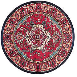 Safavieh Monaco Ngiem Red / Turquoise 6 ft. 7-inch x 6 ft. 7-inch Indoor Round Area Rug