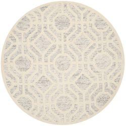 Safavieh Cambridge Brady Light Grey / Ivory 6 ft. x 6 ft. Indoor Round Area Rug