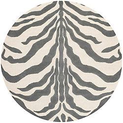Safavieh Cambridge Dae Ivory / Dark Grey 6 ft. x 6 ft. Indoor Round Area Rug