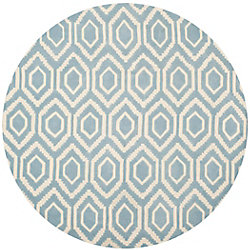 Safavieh Chatham Beau Blue / Ivory 6 ft. x 6 ft. Indoor Round Area Rug