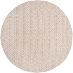 Safavieh Montauk Corrine Ivory / Grey 6 ft. x 6 ft. Indoor Round Area Rug