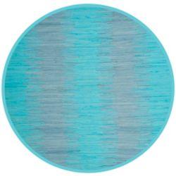 Safavieh Tapis d'intérieur rond, 6 pi x 6 pi, Montauk Kim, turquoise
