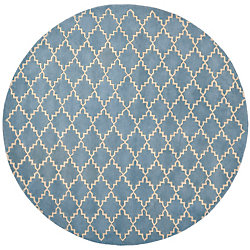 Safavieh Chatham Adam Blue Grey 7 ft. x 7 ft. Indoor Round Area Rug