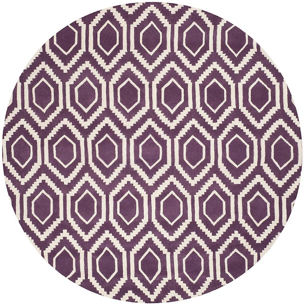 Safavieh Tapis d\'intérieur rond, 7 pi x 7 pi, Chatham Beau, violet ...