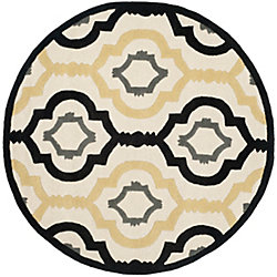 Safavieh Chatham Bree Ivory / Multi 7 ft. x 7 ft. Indoor Round Area Rug
