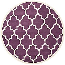 Safavieh Chatham Caprice Purple / Ivory 7 ft. x 7 ft. Indoor Round Area Rug