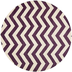 Safavieh Chatham Lara Purple / Ivory 7 ft. x 7 ft. Indoor Round Area Rug