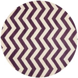 Safavieh Chatham Lara Purple / Ivory 7 ft. x 7 ft. Indoor Round Area Rug