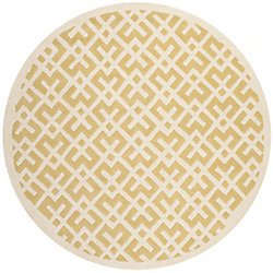 Safavieh Chatham Oakly Light Gold / Ivory 7 ft. x 7 ft. Indoor Round Area Rug