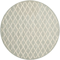 Safavieh Chatham Philip Light Blue / Ivory 7 ft. x 7 ft. Indoor Round Area Rug