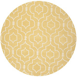 Safavieh Chatham Romain Light Gold / Ivory 7 ft. x 7 ft. Indoor Round Area Rug