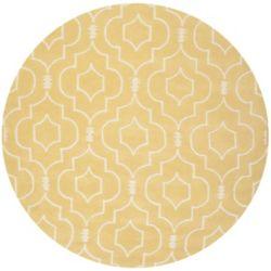 Safavieh Chatham Romain Light Gold / Ivory 7 ft. x 7 ft. Indoor Round Area Rug