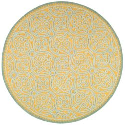 Safavieh Cambridge Samuel Blue / Gold 8 ft. x 8 ft. Indoor Round Area Rug