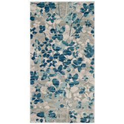 Safavieh Evoke Victor Grey / Light Blue 2 ft. 2-inch x 4 ft. Indoor Area Rug