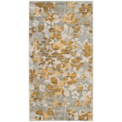 Safavieh Evoke Victor Grey / Gold 2 ft. 2-inch x 4 ft. Indoor Area Rug