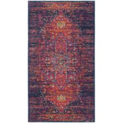 Safavieh Evoke Watson Blue / Fuchsia 2 ft. 2-inch x 4 ft. Indoor Area Rug