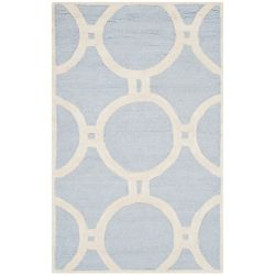 Safavieh Cambridge Colin Light Blue / Ivory 2 ft. 6-inch x 4 ft. Indoor Area Rug