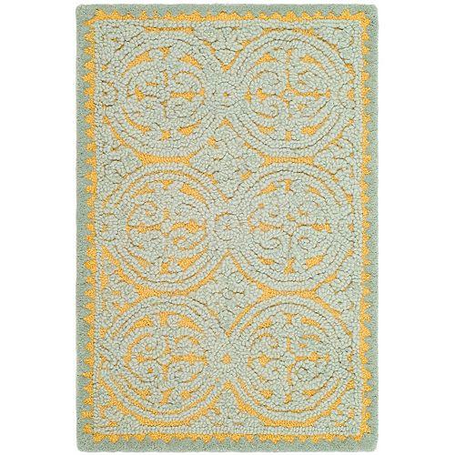 Safavieh Cambridge Samuel Blue / Gold 2 ft. 6-inch x 4 ft. Indoor Area Rug