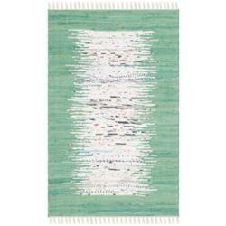 Safavieh Montauk Delroy Ivory / Sea Green 2 ft. 6-inch x 4 ft. Indoor Area Rug