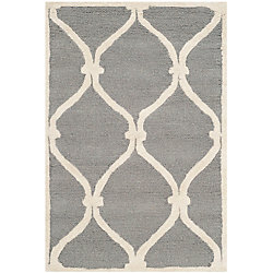 Safavieh Cambridge Hamlin Dark Grey / Ivory 2 ft. x 3 ft. Indoor Area Rug
