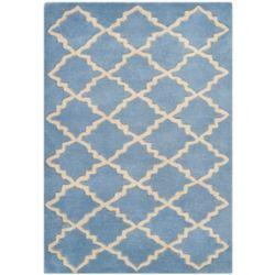 Safavieh Tapis d'intérieur, 2 pi x 3 pi, Chatham Adam, bleu gris