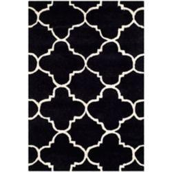 Safavieh Tapis d'intérieur, 2 pi x 3 pi, Chatham Leslie, noir / ivoire
