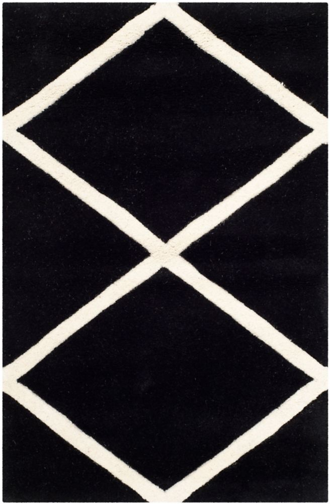 Safavieh Chatham Peter Black / Ivory 2 ft. x 3 ft. Indoor Area Rug