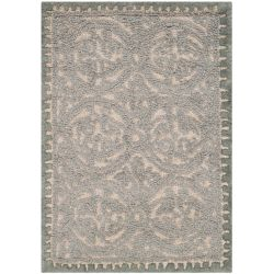 Safavieh Cambridge Cybil Dusty Blue / Cement 3 ft. x 5 ft. Indoor Area Rug