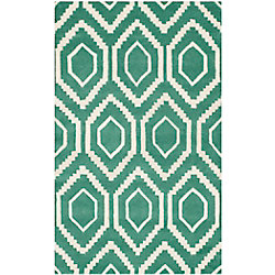 Safavieh Chatham Beau Teal / Ivory 3 ft. x 5 ft. Indoor Area Rug