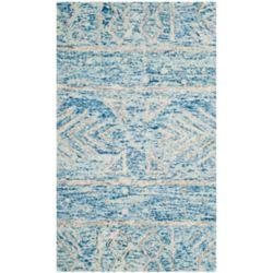 Safavieh Chatham Fabian Blue / Ivory 3 ft. x 5 ft. Indoor Area Rug