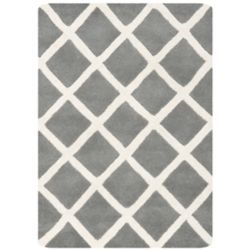 Safavieh Tapis d'intérieur, 3 pi x 5 pi, Chatham Lily, dark gris / ivoire