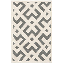 Safavieh Chatham Oakly Dark Grey / Ivory 3 ft. x 5 ft. Indoor Area Rug