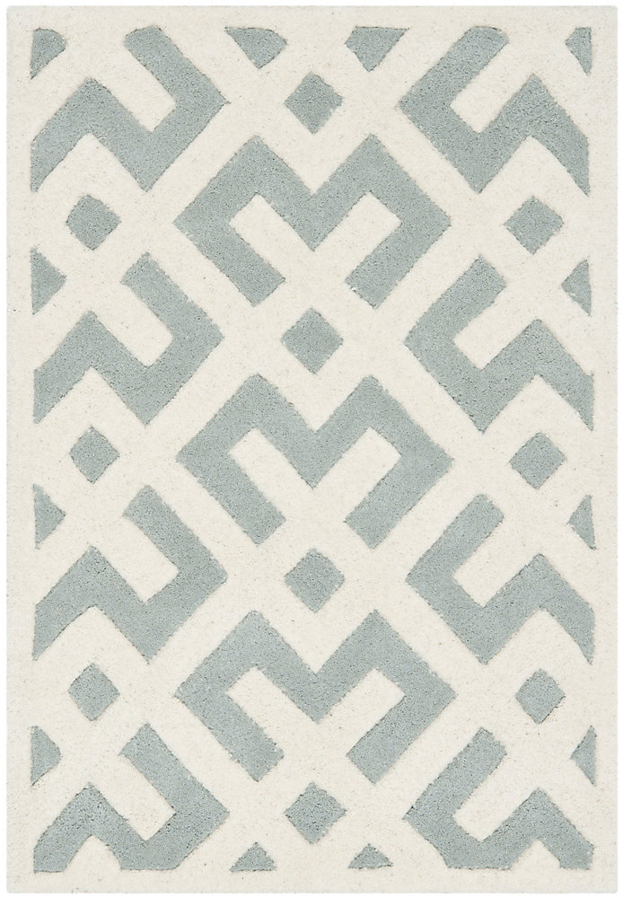 Chatham Oakly Grey / Ivory 3 ft. x 5 ft. Indoor Area Rug