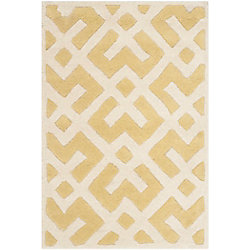 Safavieh Chatham Oakly Light Gold / Ivory 3 ft. x 5 ft. Indoor Area Rug