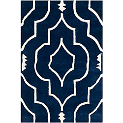 Safavieh Chatham Romain Dark Blue / Ivory 3 ft. x 5 ft. Indoor Area Rug
