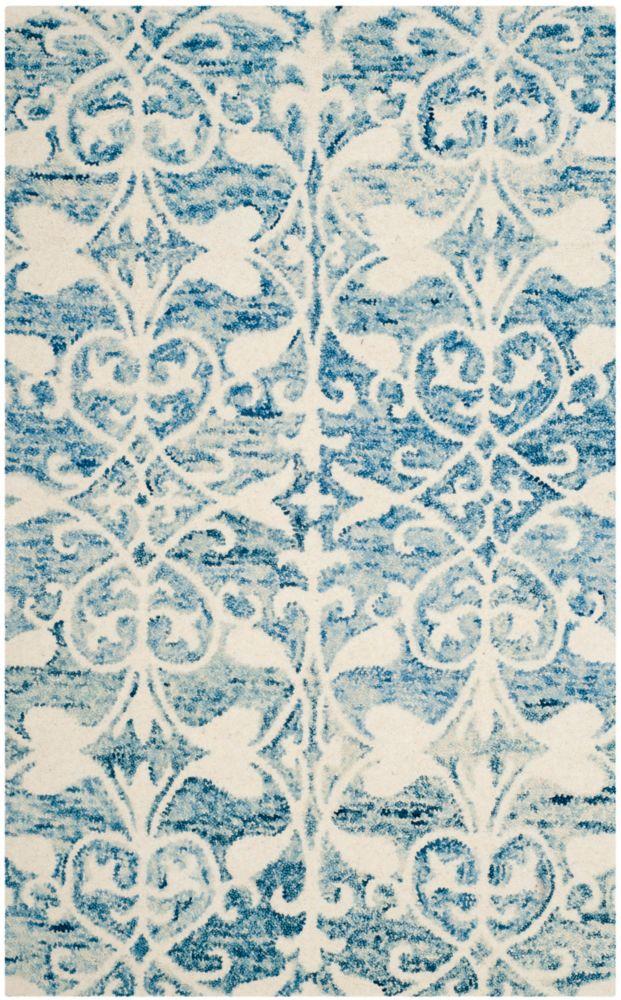 Safavieh Chatham Steven Dark Blue / Ivory 3 ft. x 5 ft. Indoor Area Rug