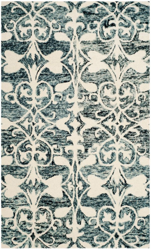 Safavieh Chatham Steven Charcoal / Ivory 3 ft. x 5 ft. Indoor Area Rug