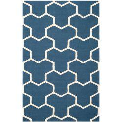 Safavieh Cambridge Angella Navy Blue / Ivory 4 ft. x 6 ft. Indoor Area Rug