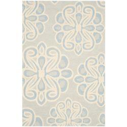 Safavieh Tapis d'intérieur, 4 pi x 6 pi, Cambridge Braxton, gris / bleu